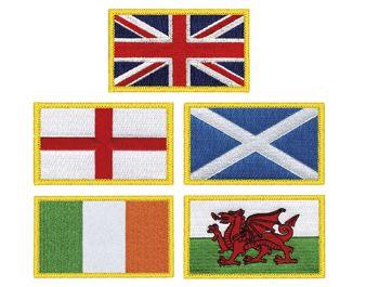 Flag Embroidered Badges
